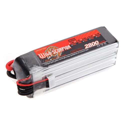 Wild Scorpion 18.5V 2800mAh 30C MAX 40C 5S T Plug Li-po Battery for RC Car Airplane Helicopter PartToys &amp; Hobbies<br>Wild Scorpion 18.5V 2800mAh 30C MAX 40C 5S T Plug Li-po Battery for RC Car Airplane Helicopter Part<br>