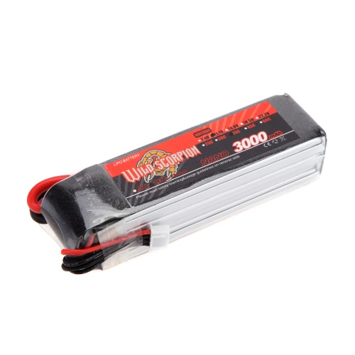 Wild Scorpion 11.1V 3000mAh 35C MAX 45C 3S T Plug Li-po Battery for RC Car Airplane T-REX 450 Helicopter PartToys &amp; Hobbies<br>Wild Scorpion 11.1V 3000mAh 35C MAX 45C 3S T Plug Li-po Battery for RC Car Airplane T-REX 450 Helicopter Part<br>