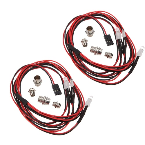 2 Sets 1/10 1/8 Upgrade Parts 4 LED Light Set Headlight Taillight for HSP RC Monster Truck CarsToys &amp; Hobbies<br>2 Sets 1/10 1/8 Upgrade Parts 4 LED Light Set Headlight Taillight for HSP RC Monster Truck Cars<br>