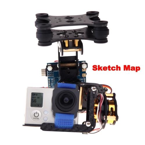 FPV Gopro Hero 3 2D 2-Axis Carbon Fiber Brushless Camera Gimbal with 2 Motors &amp; Controller Board PTZ for DJI Phantom F450 QudcopteToys &amp; Hobbies<br>FPV Gopro Hero 3 2D 2-Axis Carbon Fiber Brushless Camera Gimbal with 2 Motors &amp; Controller Board PTZ for DJI Phantom F450 Qudcopte<br>
