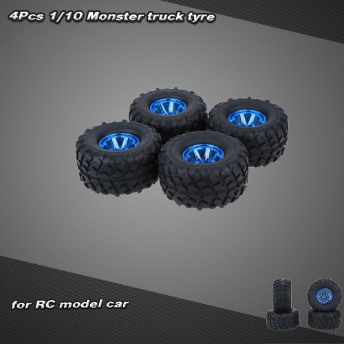 4Pcs/Set 1/10 Monster Truck Tire Tyres for Traxxas HSP Tamiya HPI Kyosho RC Model CarToys &amp; Hobbies<br>4Pcs/Set 1/10 Monster Truck Tire Tyres for Traxxas HSP Tamiya HPI Kyosho RC Model Car<br>