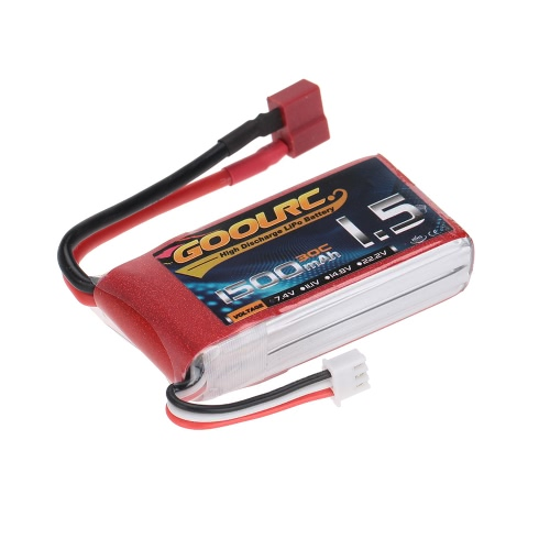 GoolRC 2S 7.4V 1500mAh 30C Li-Po Battery with T Plug for RC Car Boat Truck DroneToys &amp; Hobbies<br>GoolRC 2S 7.4V 1500mAh 30C Li-Po Battery with T Plug for RC Car Boat Truck Drone<br>