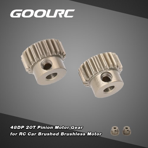 GoolRC 2Pcs 48DP 3.175mm 20T Pinion Motor Gear for 1/10 RC Car Brushed Brushless MotorToys &amp; Hobbies<br>GoolRC 2Pcs 48DP 3.175mm 20T Pinion Motor Gear for 1/10 RC Car Brushed Brushless Motor<br>