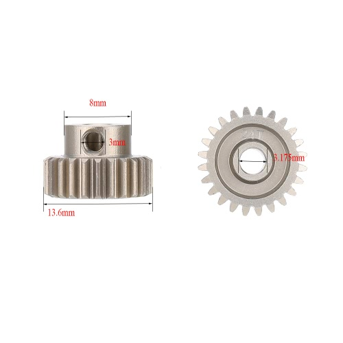 GoolRC 2Pcs 48DP 24T Pinion Motor Gear for 1/10 RC Car Brushed Brushless MotorToys &amp; Hobbies<br>GoolRC 2Pcs 48DP 24T Pinion Motor Gear for 1/10 RC Car Brushed Brushless Motor<br>