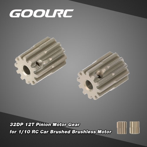 GoolRC 2Pcs 32DP 3.175mm 12T Pinion Motor Gear for 1/10 RC Car Brushed Brushless MotorToys &amp; Hobbies<br>GoolRC 2Pcs 32DP 3.175mm 12T Pinion Motor Gear for 1/10 RC Car Brushed Brushless Motor<br>