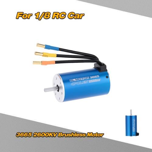 3665 2600KV 4 Poles Sensorless Brushless Motor for 1/8 1/10 Off-road RC CarToys &amp; Hobbies<br>3665 2600KV 4 Poles Sensorless Brushless Motor for 1/8 1/10 Off-road RC Car<br>