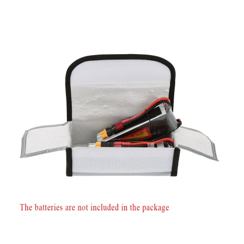 18.5 * 7.5 * 6cm Silver High Quality Glass Fiber RC LiPo Battery Safety Bag Safe Guard Charge SackToys &amp; Hobbies<br>18.5 * 7.5 * 6cm Silver High Quality Glass Fiber RC LiPo Battery Safety Bag Safe Guard Charge Sack<br>