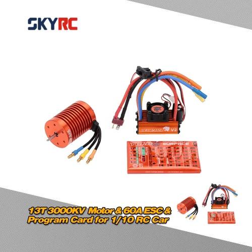 SKYRC 13T 3000KV Brushless Motor &amp; 60A Brushless ESC with 5V/2A BEC Linear Mode &amp; Program Card Combo Set for 1/10 RC CarToys &amp; Hobbies<br>SKYRC 13T 3000KV Brushless Motor &amp; 60A Brushless ESC with 5V/2A BEC Linear Mode &amp; Program Card Combo Set for 1/10 RC Car<br>