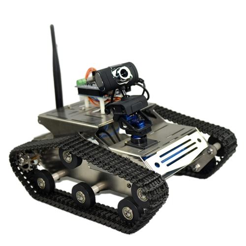 Smart  Wifi DIY Crawler RC Robot Tank with 1.3MP HD Camera Support PC Mobile Phone Control MonitoringToys &amp; Hobbies<br>Smart  Wifi DIY Crawler RC Robot Tank with 1.3MP HD Camera Support PC Mobile Phone Control Monitoring<br>