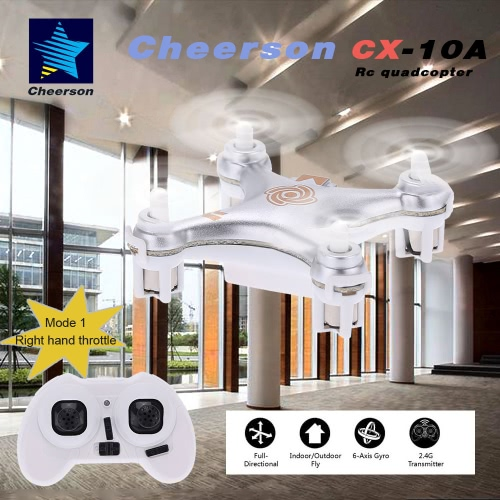 Original Mode 1 Cheerson CX-10A 2.4GHz 4CH RC Quadcopter NANO Drone UFO with Headless Mode FunctionToys &amp; Hobbies<br>Original Mode 1 Cheerson CX-10A 2.4GHz 4CH RC Quadcopter NANO Drone UFO with Headless Mode Function<br>