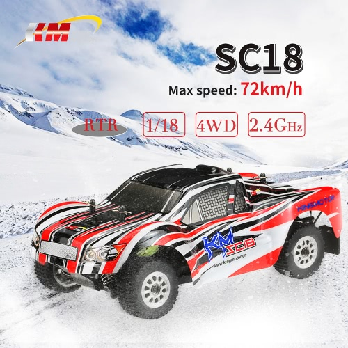 Buy Original King Motor SC18 2.4GHz 4WD 1/18 Brushed Electric Off-Road Short Course Truck RC Racing Car