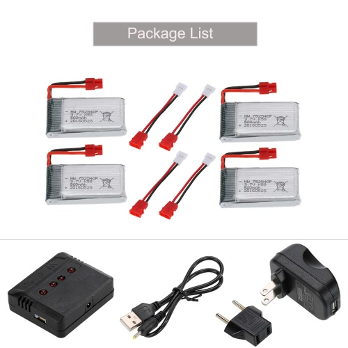 4pcs 3.7V 500mAh Li-po Battery with 4 in 1 Charger Set for Syma X5SW X5SC X5HW X5HC RC Drone QuadcopterToys &amp; Hobbies<br>4pcs 3.7V 500mAh Li-po Battery with 4 in 1 Charger Set for Syma X5SW X5SC X5HW X5HC RC Drone Quadcopter<br>