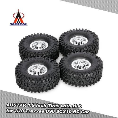 4Pcs AUSTAR AX-5020G 1.9 Inch 120mm Tires with Metal Electroplated Hub for 1/10 Traxxas Redcat SCX10 AXIAL RC4WD TF2 Rock CrawlerToys &amp; Hobbies<br>4Pcs AUSTAR AX-5020G 1.9 Inch 120mm Tires with Metal Electroplated Hub for 1/10 Traxxas Redcat SCX10 AXIAL RC4WD TF2 Rock Crawler<br>