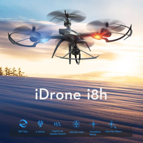 Original Yizhan iDrone i8h 2.4G 4CH 6-axis Gyro Altitude Hold RTF RC Quadcopter Drone with CF Mode 3D Flip One-key Return FunctionToys &amp; Hobbies<br>Original Yizhan iDrone i8h 2.4G 4CH 6-axis Gyro Altitude Hold RTF RC Quadcopter Drone with CF Mode 3D Flip One-key Return Function<br>