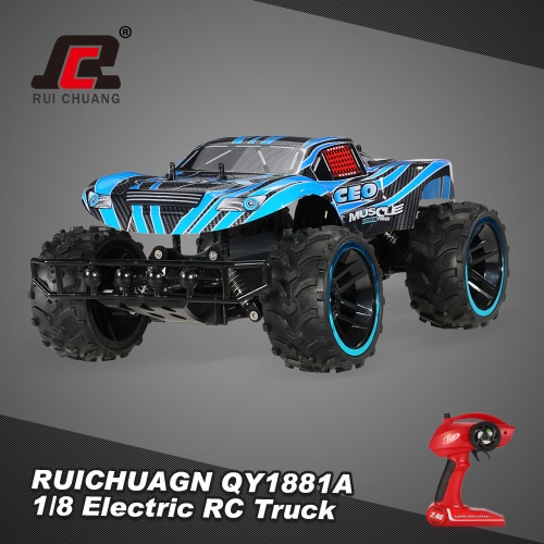 RUICHUAGN QY1881A 1/8 2.4GHz 2WD 2CH 20km/h Electric RTR Off-Road RC TruckToys &amp; Hobbies<br>RUICHUAGN QY1881A 1/8 2.4GHz 2WD 2CH 20km/h Electric RTR Off-Road RC Truck<br>