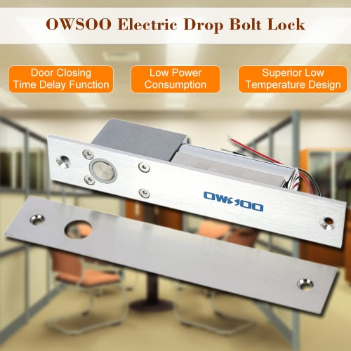 OWSOO  Electric Drop Bolt Lock Fail-safe Secure NC Mode 12V For Door Entry Access Control SystemSmart Device &amp; Safety<br>OWSOO  Electric Drop Bolt Lock Fail-safe Secure NC Mode 12V For Door Entry Access Control System<br>