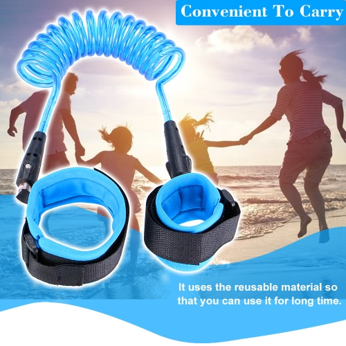 Anti Lost Wrist Link Safety for Toddlers, Baby &amp; Kids Walking Hand Belt Anti Lost Belt Metal Blue 2mSmart Device &amp; Safety<br>Anti Lost Wrist Link Safety for Toddlers, Baby &amp; Kids Walking Hand Belt Anti Lost Belt Metal Blue 2m<br>