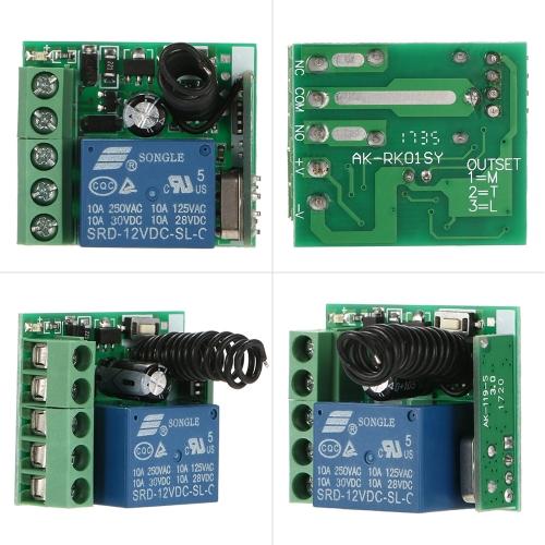 Smart Home 433Mhz DC 12V 1CH Wireless Remote SwitchSmart Device &amp; Safety<br>Smart Home 433Mhz DC 12V 1CH Wireless Remote Switch<br>