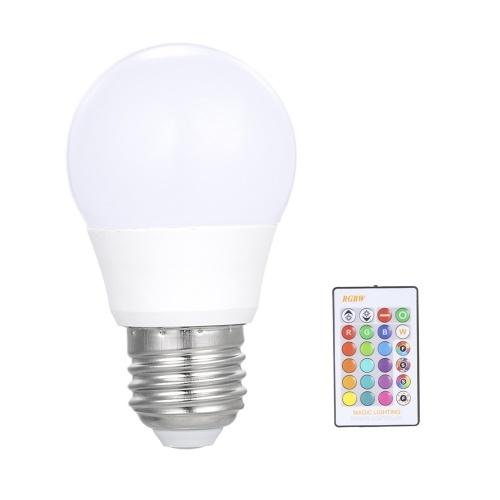 3W RGB LED Lampada E27 Dimmerabile Lampadina a risparmio energetico