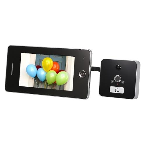 4,3-дюймовый ЖК-экран Цифровая дверная камера с электронными дверными звонками