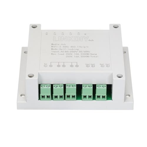 SONOFF 4CH AC85-250V Commutateur WiFI 4 canaux montage sur rail DIN