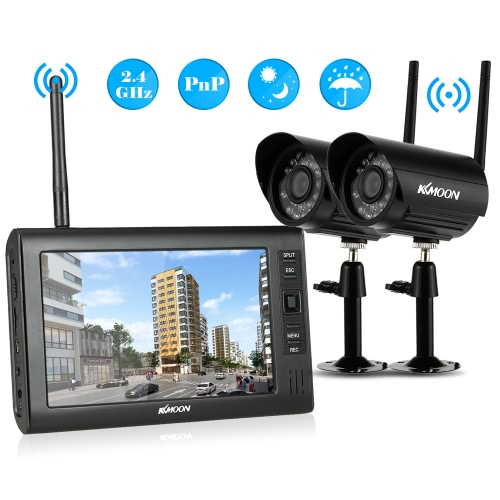 KKmoon  4CH Wireless WiFi Camera System 2.4GHz 7 TFT Digital LCD Display MonitorSmart Device &amp; Safety<br>KKmoon  4CH Wireless WiFi Camera System 2.4GHz 7 TFT Digital LCD Display Monitor<br>