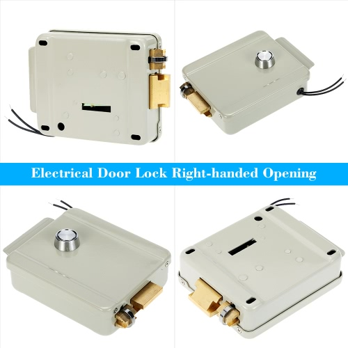 Electric Electrical Door Lock Right-handed Opening For Doorbell Intercom Access Control Security SystemSmart Device &amp; Safety<br>Electric Electrical Door Lock Right-handed Opening For Doorbell Intercom Access Control Security System<br>