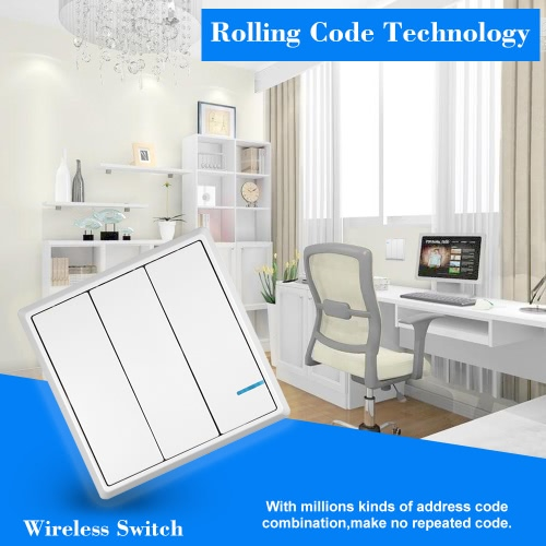 AC 180~275V Wireless Switch Transmitter Switch Receiver Controller No Wiring Remote Control Waterproof House Lighting &amp; AppliancesSmart Device &amp; Safety<br>AC 180~275V Wireless Switch Transmitter Switch Receiver Controller No Wiring Remote Control Waterproof House Lighting &amp; Appliances<br>