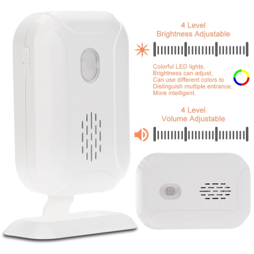 Wireless Split Welcome Guest Doorbell Motion Detection PIR Sensor Alarm System with Receiver and Transmitter for Home Office SecurSmart Device &amp; Safety<br>Wireless Split Welcome Guest Doorbell Motion Detection PIR Sensor Alarm System with Receiver and Transmitter for Home Office Secur<br>