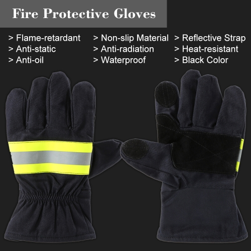 Fire Protective Gloves Anti-fire Equipment Fire Proof Waterproof Heat -Resistant Flame-retardant Gloves With Reflective StrapSmart Device &amp; Safety<br>Fire Protective Gloves Anti-fire Equipment Fire Proof Waterproof Heat -Resistant Flame-retardant Gloves With Reflective Strap<br>