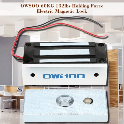 OWSOO  60KG 132lbs Holding Force Electric Magnetic Lock For Door Access Control System Electromagnet Fail-Safe NC ModeSmart Device &amp; Safety<br>OWSOO  60KG 132lbs Holding Force Electric Magnetic Lock For Door Access Control System Electromagnet Fail-Safe NC Mode<br>