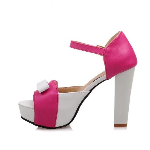 New Fashion Women Sandals Pumps Peep Toe High Block Heel Platform Bow Elegant High Heels Green/Blue/RedApparel &amp; Jewelry<br>New Fashion Women Sandals Pumps Peep Toe High Block Heel Platform Bow Elegant High Heels Green/Blue/Red<br>