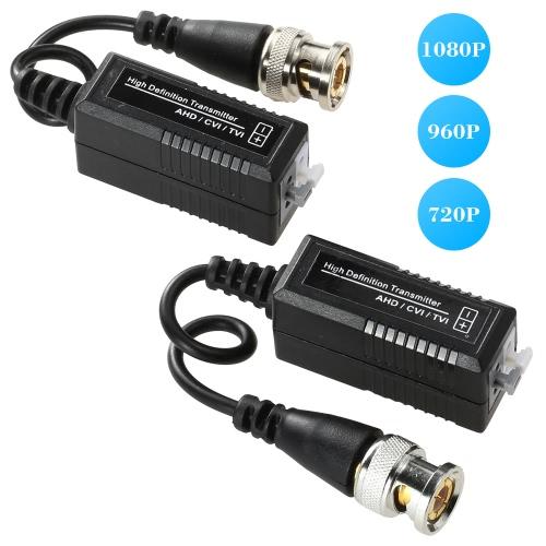 1 Pair 720P 1080P Video Balun AHD CVI TVI Coax to UTP Cat5 Cat6 Connector for CCTV CameraSmart Device &amp; Safety<br>1 Pair 720P 1080P Video Balun AHD CVI TVI Coax to UTP Cat5 Cat6 Connector for CCTV Camera<br>