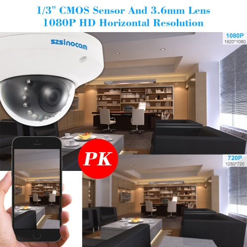 szsinocam  1080P HD POE Dome IP Camera 2.0MP 12 IR LEDS 1/3'' CMOS H.264 P2P Onvif Weatherproof Support Motion Detection Phone APPSmart Device &amp; Safety<br>szsinocam  1080P HD POE Dome IP Camera 2.0MP 12 IR LEDS 1/3'' CMOS H.264 P2P Onvif Weatherproof Support Motion Detection Phone APP<br>