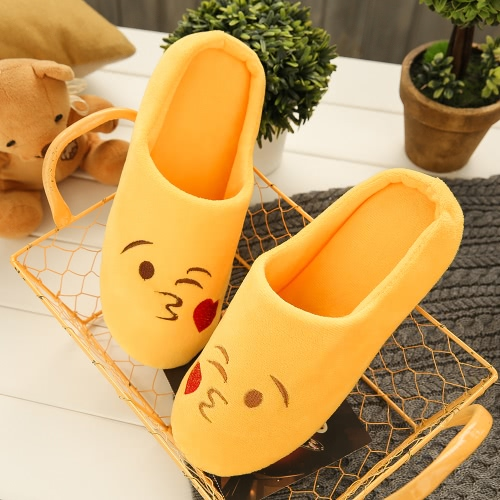 Fashion Embroidery Cute Expression Women Men Winter Warm Slippers House Indoor Floor Loafer Soft Quiet Non-slipApparel &amp; Jewelry<br>Fashion Embroidery Cute Expression Women Men Winter Warm Slippers House Indoor Floor Loafer Soft Quiet Non-slip<br>