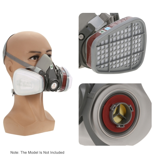6200 Facepiece Reusable Respirator with  1 Pair of Cartridges+1 Pair of  Retainers +1 Pair of  Filters Gas Mask Respiratory ProtecSmart Device &amp; Safety<br>6200 Facepiece Reusable Respirator with  1 Pair of Cartridges+1 Pair of  Retainers +1 Pair of  Filters Gas Mask Respiratory Protec<br>