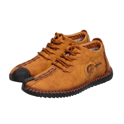 Retro Breathable Velvet Warm Winter Casual Leather Shoes