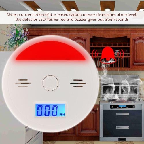 LCD CO Carbon Monoxide Alarm Sensor Poisoning Smoke Gas Tester Sound &amp; Flash Warning DetectorSmart Device &amp; Safety<br>LCD CO Carbon Monoxide Alarm Sensor Poisoning Smoke Gas Tester Sound &amp; Flash Warning Detector<br>