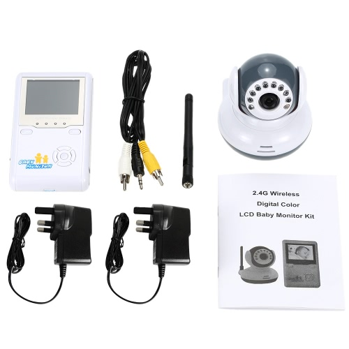 2.4inch 2.4GHz Wireless Baby Monitor + Camera support Auto Pair Plug and Play 2-way Talk IR Night View VOX Rechargeable Battery DiSmart Device &amp; Safety<br>2.4inch 2.4GHz Wireless Baby Monitor + Camera support Auto Pair Plug and Play 2-way Talk IR Night View VOX Rechargeable Battery Di<br>
