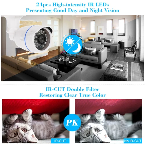 """KKmoon  960P 1.3MP AHD Bullet CCTV Camera 1/3"""" CMOS 3.6mm 24 IR Lamps Night Vision Waterproof Outdoor Security NTSC SystemSmart Device &amp; Safety<br>KKmoon  960P 1.3MP AHD Bullet CCTV Camera 1/3"""" CMOS 3.6mm 24 IR Lamps Night Vision Waterproof Outdoor Security NTSC System<br>"""