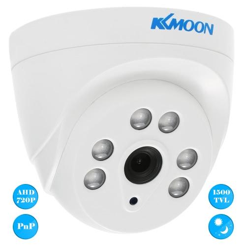 KKmoon  720P 1500TVL Dome AHD Surveillance Camera 1.0MP 3.6mm 1/4'' CMOS 6 Array IR Lamps Night Vision IR-CUT Indoor CCTV SecuritySmart Device &amp; Safety<br>KKmoon  720P 1500TVL Dome AHD Surveillance Camera 1.0MP 3.6mm 1/4'' CMOS 6 Array IR Lamps Night Vision IR-CUT Indoor CCTV Security<br>