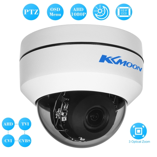 KKmoon  1080P 2 Dome AHD CVI TVI CVBS PTZ Camera 1/2.9'' for Sony CCD Sensor 2.8~8mm Auto-focus Varifocal Zoom OSD Menu 2.1MP 3Smart Device &amp; Safety<br>KKmoon  1080P 2 Dome AHD CVI TVI CVBS PTZ Camera 1/2.9'' for Sony CCD Sensor 2.8~8mm Auto-focus Varifocal Zoom OSD Menu 2.1MP 3<br>