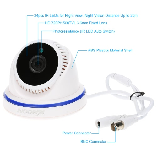 KKmoon® AHD 720P 1500TVL Megapixels CCTV Security Surveillance Indoor Dome Camera support IR-CUT Filter Night View Plug and Play 2Smart Device &amp; Safety<br>KKmoon® AHD 720P 1500TVL Megapixels CCTV Security Surveillance Indoor Dome Camera support IR-CUT Filter Night View Plug and Play 2<br>