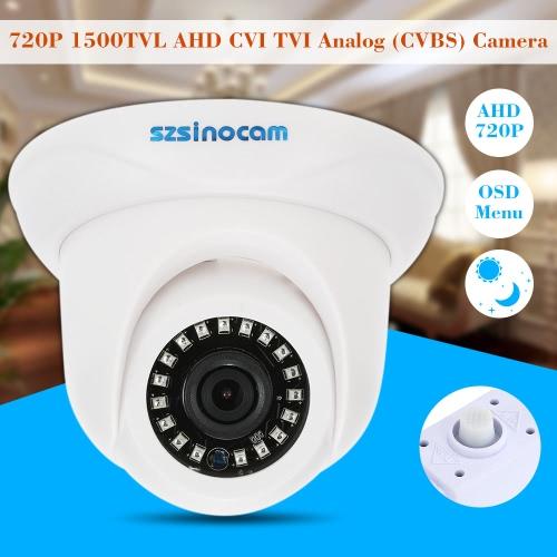 szsinocam  1500TVL 720P AHD CVI TVI Analog (CVBS) Dome Camera OSD Menu 1.0MP 1/4'' CMOS 3.6mm 18 IR LEDs IR-CUT Night Vision CCTVSmart Device &amp; Safety<br>szsinocam  1500TVL 720P AHD CVI TVI Analog (CVBS) Dome Camera OSD Menu 1.0MP 1/4'' CMOS 3.6mm 18 IR LEDs IR-CUT Night Vision CCTV<br>