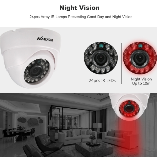 KKmoon   1080P AHD Dome CCTV Analog Camera 3.6mm Lens 1/2.8'' CMOS 2.0MP IR-CUT 24pcs IR LEDS Night Vision for Home Security NTSCSmart Device &amp; Safety<br>KKmoon   1080P AHD Dome CCTV Analog Camera 3.6mm Lens 1/2.8'' CMOS 2.0MP IR-CUT 24pcs IR LEDS Night Vision for Home Security NTSC<br>