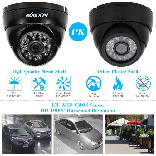 KKmoon  1080P 2.0MP AHD Dome Surveillance Camera 3.6mm 1/3'' CMOS 24 IR Lamps Night Vision IR-CUT Waterproof Indoor Outdoor CCTV SSmart Device &amp; Safety<br>KKmoon  1080P 2.0MP AHD Dome Surveillance Camera 3.6mm 1/3'' CMOS 24 IR Lamps Night Vision IR-CUT Waterproof Indoor Outdoor CCTV S<br>