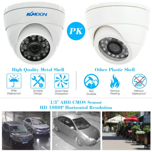 KKmoon  1080P 2.0MP AHD Dome Surveillance Camera 3.6mm 1/3'' CMOS 24 IR Lamps Night Vision IR-CUT Waterproof Indoor Outdoor CCTV SSmart Device &amp; Safety<br>KKmoon  1080P 2.0MP AHD Dome Surveillance Camera 3.6mm 1/3'' CMOS 24 IR Lamps Night Vision IR-CUT Waterproof Indoor Outdoor CCTV S<br>