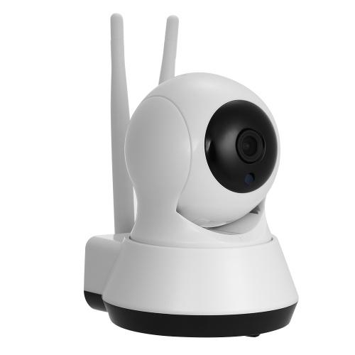 Wireless 1080P Dual Antennas Home Surveillance IP Camera Without Power Plug