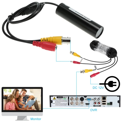 Mini 800TVL Security CCTV Camera Plug and Play Home Surveillance PAL SystemSmart Device &amp; Safety<br>Mini 800TVL Security CCTV Camera Plug and Play Home Surveillance PAL System<br>