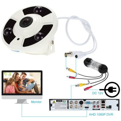 KKmoon HD 1080P 1.7mm Fisheye 360° Panoramic Security CCTV Camera Home Surveillance NTSC SystemSmart Device &amp; Safety<br>KKmoon HD 1080P 1.7mm Fisheye 360° Panoramic Security CCTV Camera Home Surveillance NTSC System<br>